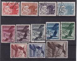 # E.13027 Austria 1925 Incomplete Set Used, Michel 469, 474, 475, 477, 480 - 487: Aviation - Usati