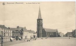 Moeskroen - Moescroen - Mouscron - De Groote Markt En Kerk - Mouscron - Moeskroen