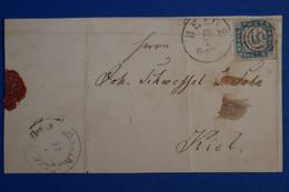C SCHLESWIG ALLEMAGNE RARE  BELLE LETTRE DEVANT 1863  HELDE POUR KIEL+ AFFRANCH. INTERESSANT - Schleswig-Holstein