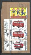 Deutschland O 2021 Briefstück Mit Briefmarken Feuerwehr Fire Fighthing - Brandweer