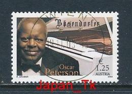 ÖSTERREICH Mi.Nr. 2452 Oscar-Peterson-Konzert Anlässlich Des Bösendorfer-Jubiläums, Wien - Used - 2001-10 Usati