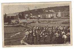 9731 - NAPOLI VIA CARACCIOLO E PESCATORI ANIMATA 1925 - Napoli (Napels)