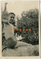Photo Young Guy Boy Teenager In Swimsuit Swimwear - Anonymous Persons