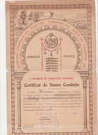 CERTIFICAT DE BONNE CONDUITE  1926  MILITARIA  TIRAILLEUR INDIGENE ROQUEBRUNE CAP MARTIN ALPES MARITIMES - Documenti