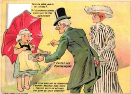 1 Calendrier Die-cut 1909 Bétises De Cambrai Despinoy Dessert Digestif - Impr LOMBART FRERES Lille Asnières - Small : 1901-20