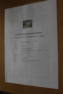 Österreich Amtl. Schwarzdruck Auf Erläuterungsblatt: Moderne Kunst; 23. Wert: Haus Im Wind, 1997 - Non Classificati