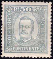 ✔️ Portugal 1892 - Carlos I - Perf. 12 ½ - Mi. 71 B * MH - €45  - Depart 4,99 - Unused Stamps