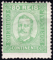 ✔️ Portugal 1892 - Carlos I - Perf. 12 ½ - Mi. 73 B * MH - €140  - Depart 4,99 - Unused Stamps