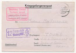 KRIEGSGEFANGENENPOST - Formule De Courrier Provenant Du Stalag VIF Censeur 12 - Prisonnier Français - 1940 - WW II