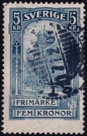 ✔️ Suede Zweden 1903 - Bureau De Poste 5 Kronor -  Mi. 54 (o)  €40 -  Depart 3,99 - Oblitérés