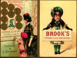 1 Calendrier 1885  BROOK's Coton à Coudre Crochet à Broder Marque JBB De Fabrique Lith.Testu & Massin - Formato Piccolo : ...-1900