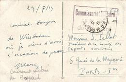 """Cachet Militaire """" Commissariat Militaire De Boppard """" - Unclassified"""