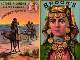 1 Calendrier 1886  BROOK's Coton à Coudre Crochet à Broder Marque JBB De Fabrique Lith.Testu & Massin - Formato Piccolo : ...-1900