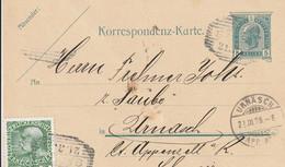 Autriche Entier Postal Privé Pour La Suisse 1908 - Interi Postali
