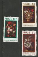 Niue - 1973  Christmas Flowers MNH **     SG 179-81   Sc 160-2 - Niue