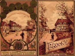 1 Calendrier 1886  BROOK's Coton à Coudre Crochet à Broder Marque JBB De Fabrique Lith.Vallet Minot - Formato Piccolo : ...-1900