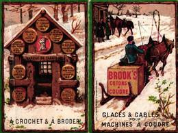 1 Calendrier 1888  BROOK's Coton à Coudre Crochet à Broder Marque JBB De Fabrique Lith. Minot - Formato Piccolo : ...-1900