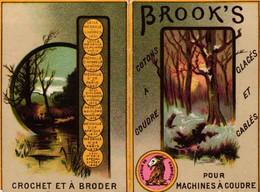 1 Calendrier 1887  BROOK's Coton à Coudre Crochet à Broder Marque JBB De Fabrique Lith. Minot - Formato Piccolo : ...-1900