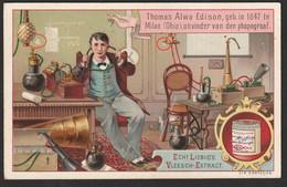 Liebig Chromo (1) -  Sang. S_0273 - Uitvinding … Uitvinders - Anno 1890 - In Goede Staat - Liebig