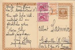 Autriche Entier Postal Illustré Pour L'Alsace - Interi Postali
