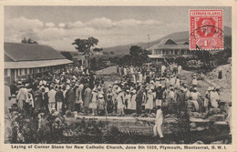 Laying Of Corner Stone Fo New Catholic Church, June 9th 1929, Plymouth, Montserrat - Other