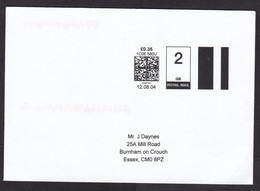 UK: Cover, 2004, Self Printed Computer Meter Cancel, 2nd Class GB 0.35 Rate, Uncommon (traces Of Use) - Covers & Documents