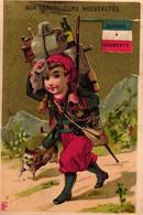 4  Calendriers  1887  Aux Travailleurs  Magasins De Nouveautés Bld. Voltaire Lith. Bourgerie Militaires Souaves Marine - Formato Piccolo : ...-1900