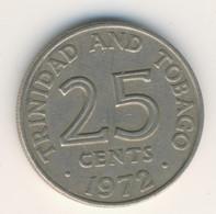 TRINIDAD & TOBAGO 1972: 25 Cents, KM 4 - Trinidad & Tobago