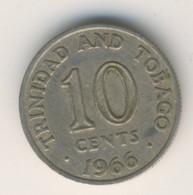 TRINIDAD & TOBAGO 1966: 10 Cents, KM 3 - Trinidad & Tobago