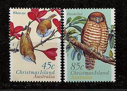 Christmas ** N° 432/433 - Oiseaux - Christmas Island