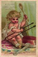 2 Cards Calendrier 1875  Au Pellerin St. Jean  Elysée  Litho Imprimeur Cheret - Formato Piccolo : ...-1900
