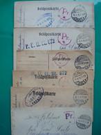 ALLEMAGNE EMPIRE 6 FELDPOSTKARTE 1917/1918 MULHAUSEN MULHOUSE - Briefe U. Dokumente