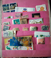 100+DIFFERENT WORLDWIDE USED MINT STAMPS MINIATURE SHEETS  SELECTED FROM 20 STOCK CARDS - Collezioni (senza Album)