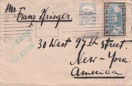 ESTONIA - LETTER 1920 > NEW YORK /QE105 - Estonia