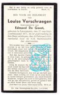 DP Louise Verschraegen ° Lochristi 1877 † 1935 X Edmond De Geest - Devotion Images