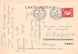 FRANCE - CARTE POSTALE 1949 15F 1949 > LUDWIGSLUST/GDR YT830 /QE 109 - Covers & Documents