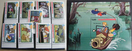MZ42 -  GRENADA GRENADINES 1982 SERIE + FOGLIETTO SHEET - DISNEY - BIANCA E BERNIE - NATALE CHRISTMAS - Grenada (1974-...)