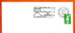 974 LA PLAINE DES CAFRES  REUNION  1991 Lettre Entière N° GH  907 - Annullamenti Meccanici (pubblicitari)