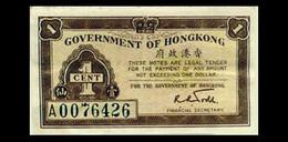 # # # Ältere Und Seltene Banknote Hongkong 1 Cent # # # - Hong Kong
