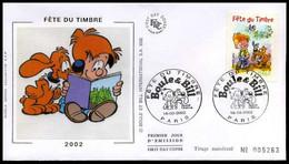 Frankrijk - FDC - Fête Du Timbre 2002 - 1990-1999
