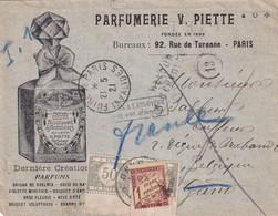 Taxe Mixte France-Belgique Sur Lettre Non Affranchie -1921 - Cartas Con Impuestos