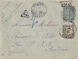 Taxe N°31 Sur Entier Postal à 10c. (2eme échelon) - Cartas Con Impuestos
