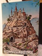 Cartolina Castello Di Canossa Ai Tempi Di Matilde  Prov Reggio Emilia 1970 - Reggio Emilia