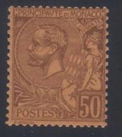 Monaco Prince Albert 1er  50c. Lilas-brun S. Orange  N° 18** Neuf - Nuovi