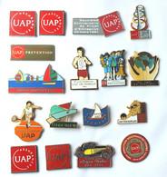 Superbe Lot De 17 Pin's ASSURANCE UAP - Tous Différents Dont  3 Signés DECAT - K096 - Lots