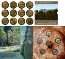 Armenia. Booklet. Set Of 6 Coins Of 200 AMD 2014. Wild Trees Of Armenia UNC - Armenia