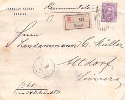 ITALY - RECO 1888 MESSINA > ALTDORF / QE 119 - Marcofilía