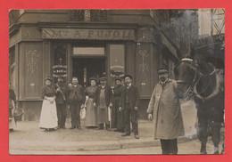 75 - Paris 18 - Carte Photo Café Au 82 Rue Maistre - Distretto: 18