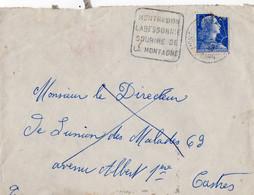 Flamme Daguin Montredon Labessonnie Tarn Avec Un Timbre Marianne Muller 20 F Oblitéré Avec  Daguin - 1921-1960: Moderne