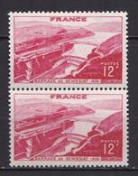 N° 817 Barrage De Génissiat:   Belle Paire De 2 Timbres Neuf Impeccable Sans Charnière - Unused Stamps